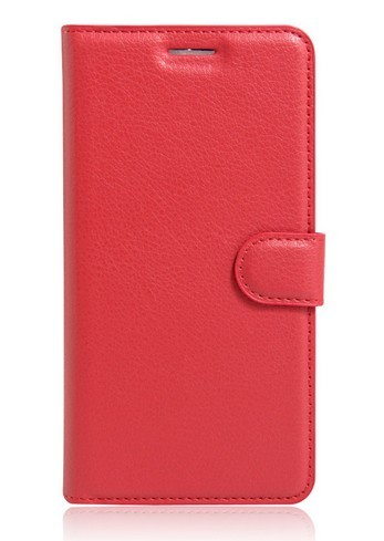 Pouzdro TopQ Huawei P10 Lite knížkové červené s přezkou 17530 (kryt neboli obal na mobil Huawei P10 Lite)