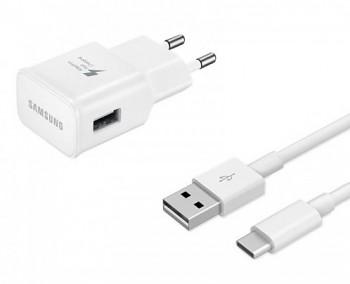 Originální rychlonabíječka Samsung EP-TA20EWE včetně USB-C datového kabelu DN930CWE bílá 2A 15W