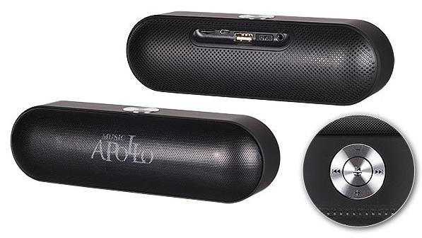 Minireproduktor TopQ Apollo S207 + rádio černý 18862