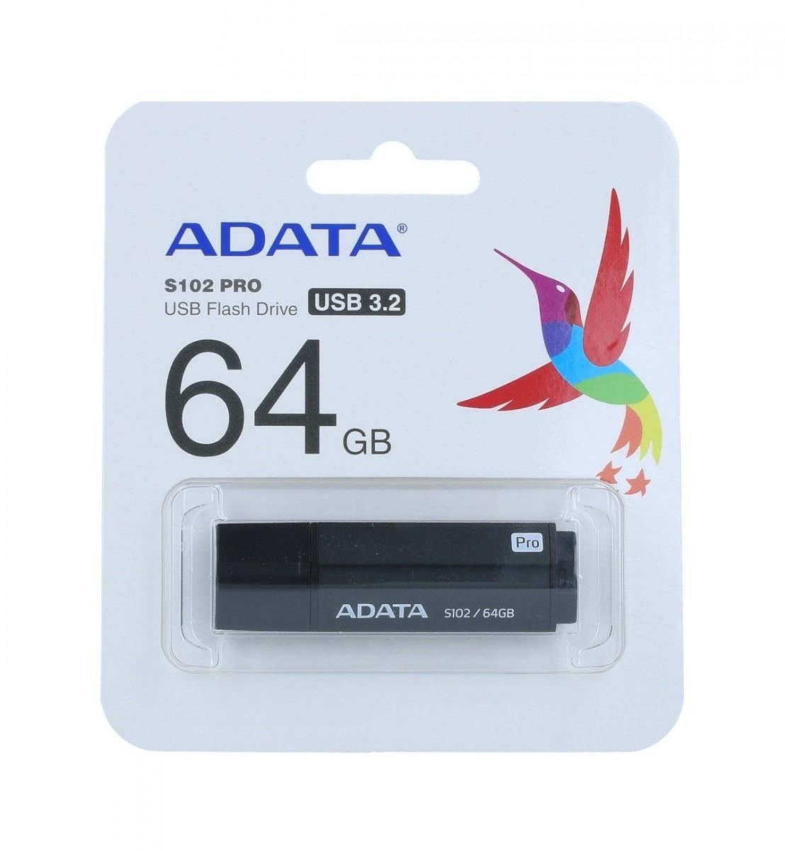 Flash disk ADATA S102 Pro 64GB šedý 19290