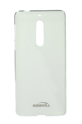 Pouzdro KISSWILL Nokia 5 silikon světlý 19586 (kryt neboli pouzdro na Nokia 5)