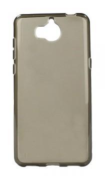Zadní silikonový kryt na Huawei Y6 2017 tmavý průhledný