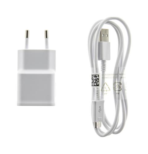 Originální nabíječka Samsung EP-TA50EWE + micro USB ECBDU4AWE bílá 1,55 A 20307