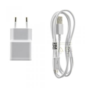 Originální nabíječka Samsung EP-TA50EWE + micro USB ECBDU4AWE bílá 1,55 A