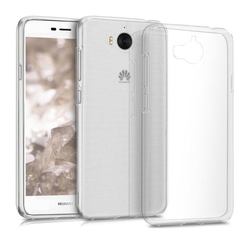 Pouzdro TopQ Huawei Y6 2017 silikon průhledný ultratenký 0,5 mm 20421 (kryt neboli obal na mobil Huawei Y6 2017)