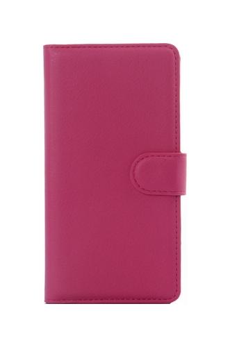 Pouzdro TopQ Samsung J7 2017 knížkové tmavě růžové s přezkou 20564 (kryt neboli obal na mobil Samsung J7 2017)