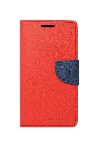 Pouzdro Mercury Fancy Diary Samsung A5 2017 knížkové červené 20647 (kryt neboli obal Samsung A5 2017 A520F)