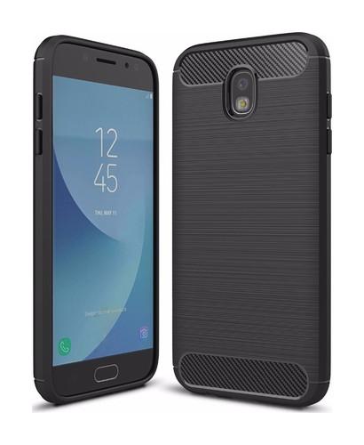 Pouzdro TopQ Samsung J7 2017 silikon černý 20920 (kryt neboli obal na mobil Samsung J7 2017 J730F)