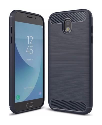 Pouzdro TopQ Samsung J7 2017 silikon modrý 20921 (kryt neboli obal na mobil Samsung J7 2017 J730F)