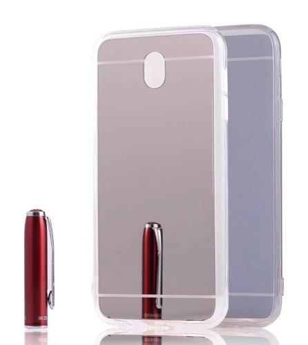 Pouzdro TopQ Samsung J5 2017 silikon zrcátkový stříbrný 20943 (kryt neboli obal Samsung J5 2017 J530F)