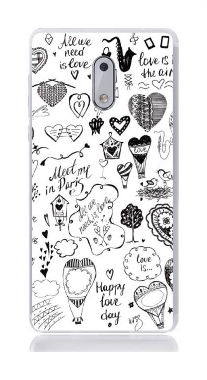 Pouzdro TopQ Nokia 6 silikon Štěstí 21150 (kryt neboli obal na mobil Nokia 6)
