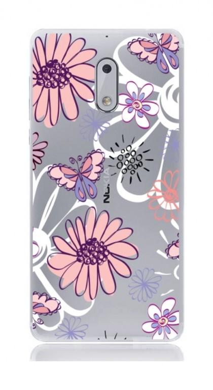 Pouzdro TopQ Nokia 6 silikon Flowers 21152 (kryt neboli obal na mobil Nokia 6)