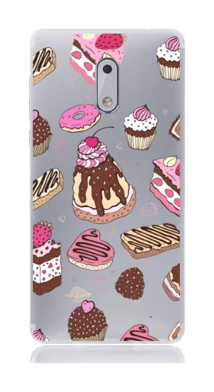 Pouzdro TopQ Nokia 6 silikon Desserts 21153 (kryt neboli obal na mobil Nokia 6)