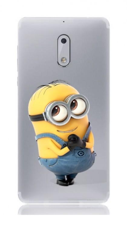 Pouzdro TopQ Nokia 6 silikon Minion 21155 (kryt neboli obal na mobil Nokia 6)