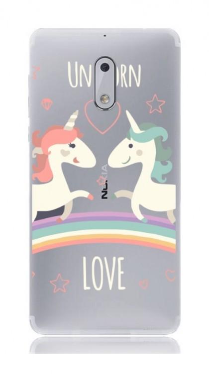 Pouzdro TopQ Nokia 6 silikon Unicorn Love 21165 (kryt neboli obal na mobil Nokia 6)
