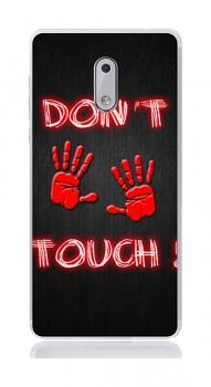 Zadní silikonový kryt na Nokia 6 Don't touch red