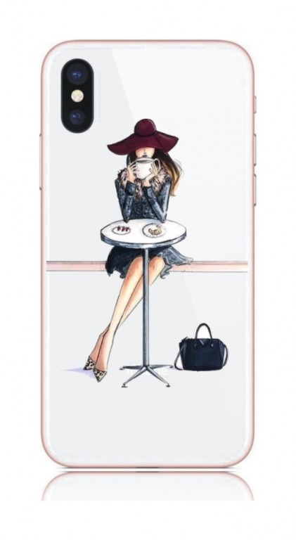Pouzdro TopQ iPhone X pevné Lady 6 21211 (kryt neboli obal na mobil Apple iPhone X)