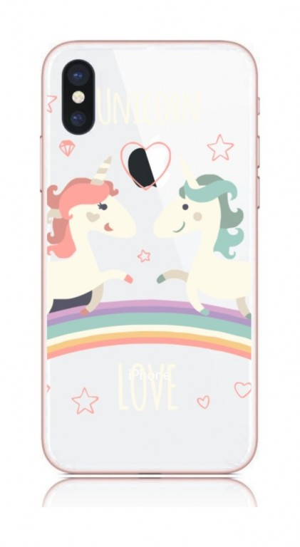 Pouzdro TopQ iPhone X pevné Unicorn Love 21217 (kryt neboli obal na mobil Apple iPhone X)