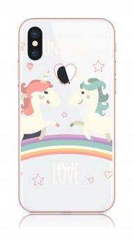 Zadní kryt na iPhone X Unicorn Love