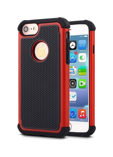 Pouzdro TopQ iPhone 7 Outdoor červené 21233 (kryt neboli obal na mobil iPhone 7)