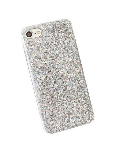 Pouzdro TopQ iPhone 7 silikon Shining stříbrný 21281 (kryt neboli obal na mobil  iPhone 7 0ee0d4bd118