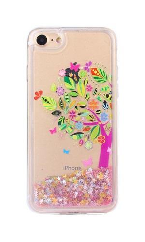Pouzdro TopQ iPhone 7 silikon přesýpací strom 21311 (kryt neboli obal na mobil iPhone 7)