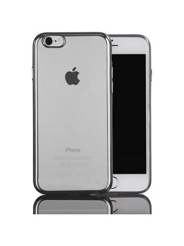Pouzdro TopQ iPhone 7 silikon s šedým rámečkem 21540 (kryt neboli obal na mobil iPhone 7)