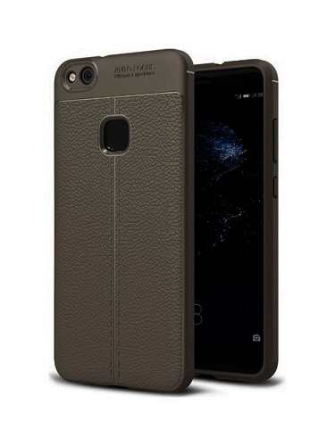 Pouzdro TopQ Huawei P10 Lite Leather silikon šedý 22371 (kryt neboli obal na mobil Huawei P10 Lite )