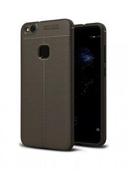 Zadní silikonový kryt na Huawei P10 Lite Leather šedý