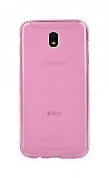 Zadní silikonový kryt na Samsung J7 2017 růžový průhledný