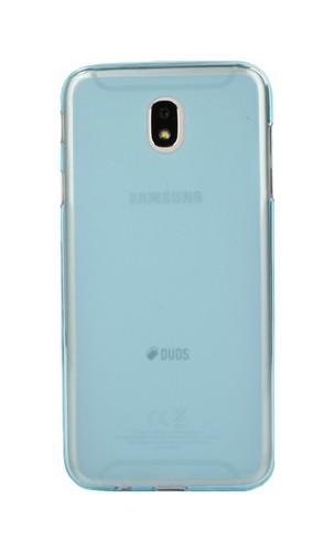 Pouzdro TopQ Samsung J7 2017 silikon modrý průhledný 22417 (kryt neboli obal na mobil Samsung Galaxy J7 2017 J730F)