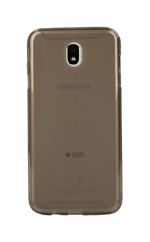 Pouzdro TopQ Samsung J7 2017 silikon tmavý průhledný 22420 (kryt neboli obal na mobil Samsung Galaxy J7 2017 J730F)