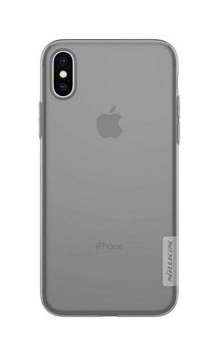 Pouzdro Nillkin iPhone X silikonové tmavé 22431 (kryt neboli obal na mobil iPhone X)