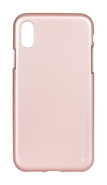 Pouzdro Mercury iJelly iPhone X silikon světle růžový 22432 (kryt neboli obal na iPhone X)