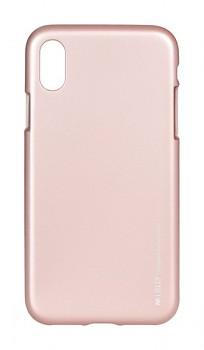 Zadní kryt Mercury iJelly Metal na iPhone X světle růžový