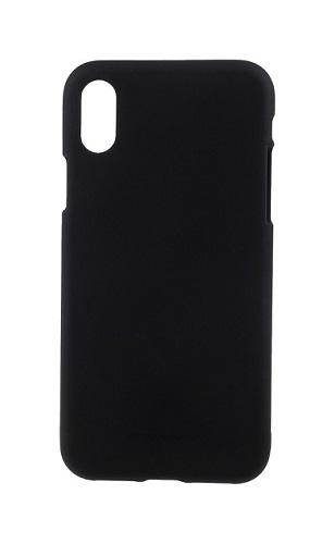 Pouzdro Mercury iPhone X silikon černý 22484 (kryt neboli obal na mobil iPhone X)