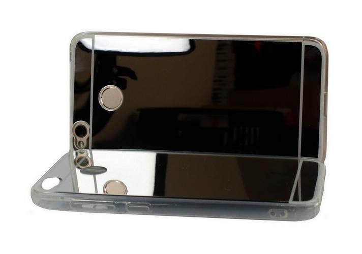 Pouzdro Forcell Xiaomi Redmi 4X silikon zrcátkový stříbrný tmavý 22666 (kryt neboli obal Xiaomi Redmi 4X)