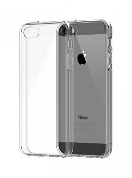 Zadní kryt Swissten Clear Jelly na iPhone 5 / 5s / SE průhledný
