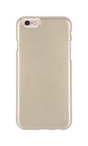 Pouzdro Mercury iJelly iPhone 6 / 6s silikon zlatý 23734 (kryt neboli obal na iPhone 6 / 6s)