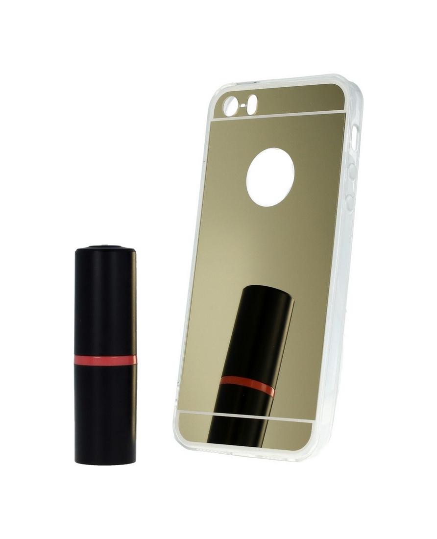 Pouzdro Forcell iPhone 5 / 5s / SE silikon zrcátkový zlatý 23883 (kryt neboli obal iPhone 5 / 5s / SE)