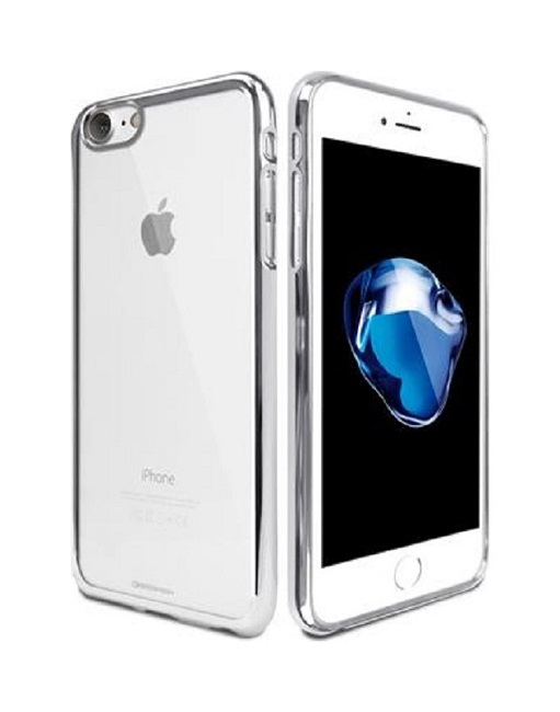 Pouzdro Mercury Ring iPhone 7 silikon stříbrný 24002 (kryt neboli obal na mobil iPhone 7)