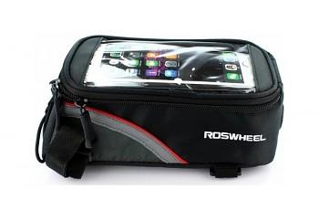Pouzdro Roswheel mobilní telefon na kolo černo-červené 4,8''