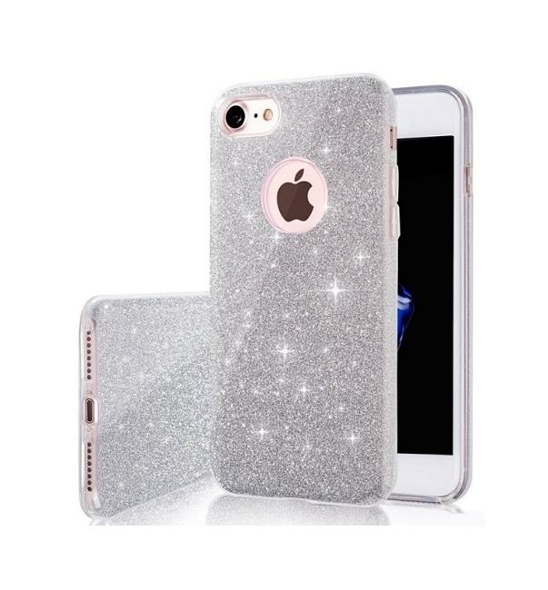 Pouzdro Forcell iPhone 5 / 5s / SE silikon glitter stříbrný 24867 (kryt neboli obal na mobil iPhone 5 / 5s / SE)