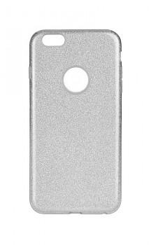Zadní silikonový kryt na iPhone 6 / 6s glitter stříbrný