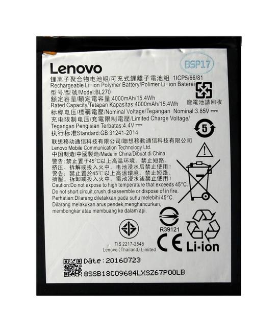 Originální baterie Lenovo BL270 Lenovo K6 Note 4000mAh - originální 25177