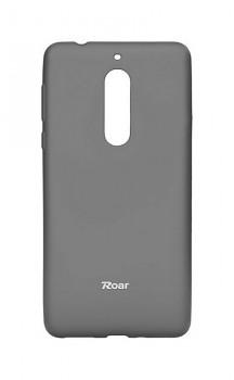 Zadní silikonový kryt Roar na Nokia 5 šedý