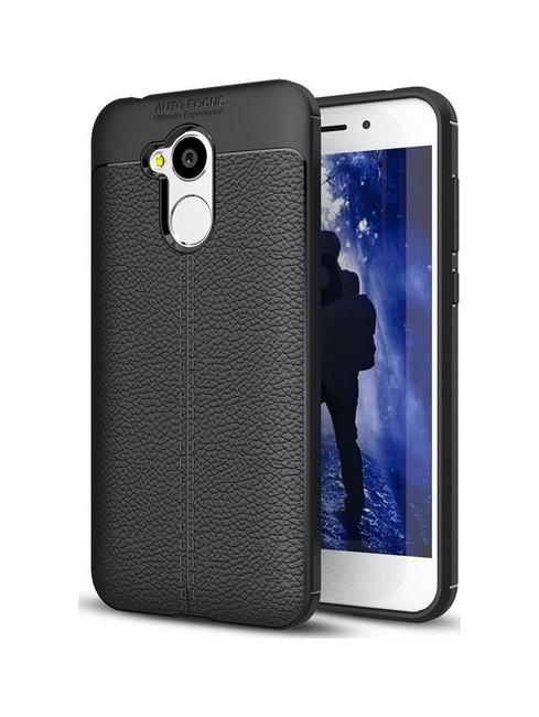 Pouzdro TopQ Honor 6A silikon Leather černý 25363 (kryt neboli obal na mobil Honor 6A)