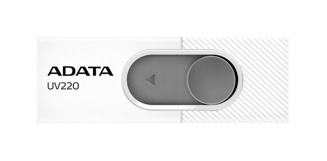 Flash disk ADATA UV220 8GB bílý 25382