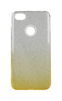Zadní pevný kryt na Xiaomi Redmi Note 5A glitter stříbrno-oranžový