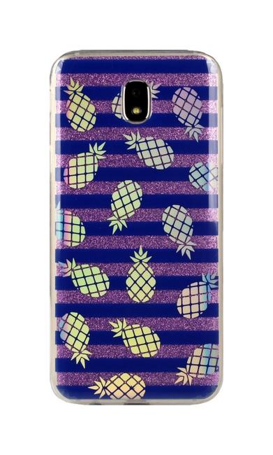 Pouzdro TopQ Samsung J5 2017 glitter ananasy 25609 (kryt neboli obal na mobil Samsung J5 2017)